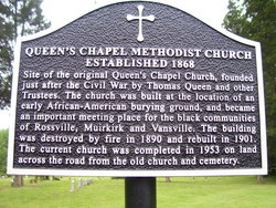 Queens Chapel United Methodist Church Cemetery