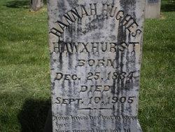 Hannah <I>Hughes</I> Hawxhurst