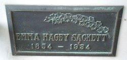 Emma Lucinda <I>Hagey</I> Sackett