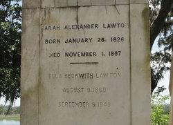 Sarah Gilbert <I>Alexander</I> Lawton