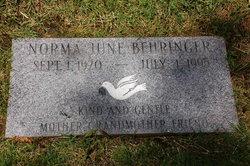 Norma June Behringer