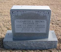 Elizabeth L. <I>Watson</I> Brown