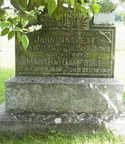 Martha <I>Campbell</I> Haskett