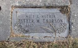Esther M Thorson