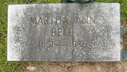 Martha Ann <I>Coppedge</I> Bell