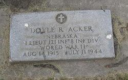 Lieut Doyle R. Acker