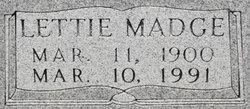 Lettie Madge <I>McCarty</I> Swearingen