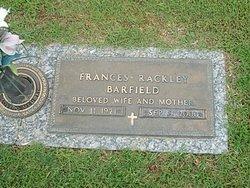Frances <I>Rackley</I> Barfield