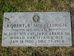 MSGT Robert R McCullough
