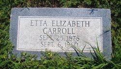 Etta Elizabeth <I>Smith</I> Carroll