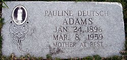 Pauline Marie <I>Deutsch</I> Adams