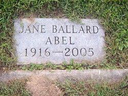Jane <I>Ballard</I> Abel