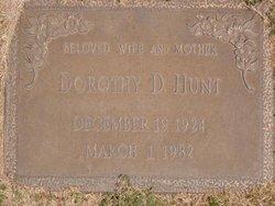 Dorothy D Hunt