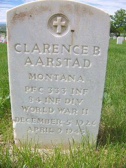 PFC Clarence B Aarstad