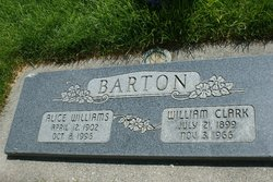 Alice <I>Williams</I> Barton