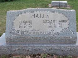 "Mary Elizabeth ""Lizzie"" <I>Wood</I> Halls"