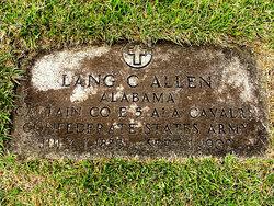 """Maj Langdon Cheevies """"Lang"""" Allen"""