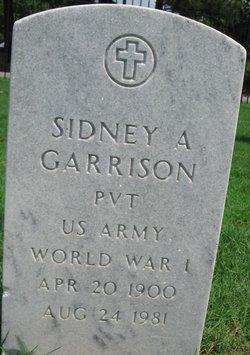 Sidney A Garrison