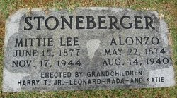 Mittie Lee <I>Lucas</I> Stoneberger