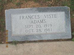 Frances Esther <I>Viste</I> Adams