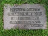"""Anna Amelia """"Amelia"""" <I>Gronberg</I> Berger"""