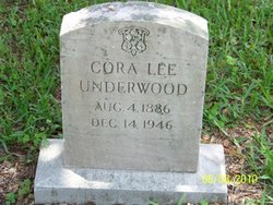 Cora Lee <I>Crosson</I> Underwood