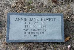 Annie Jane <I>McRoy</I> Hewett