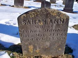 Sarah Ann <I>Gregg</I> Hatcher