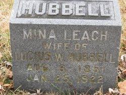 Mina L <I>Leach</I> Hubbell