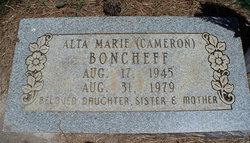 Alta Marie <I>Cameron</I> Boncheff