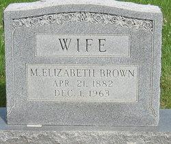 Mary Elizabeth <I>Yancey</I> Brown