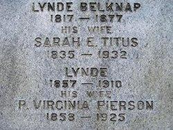 Sarah E. <I>Titus</I> Belknap