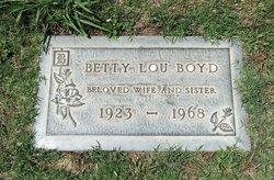 Betty Lou <I>Dean</I> Boyd