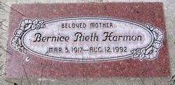 Bernice E <I>Rieth</I> Harmon