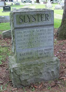 Ralph H Slyster