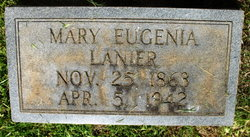 """Mary Eugenia """"Genie"""" <I>Gibson</I> Lanier"""