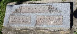 Fannie Butler <I>Cavell</I> France