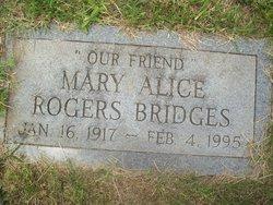 Mary Alice <I>Rogers</I> Bridges