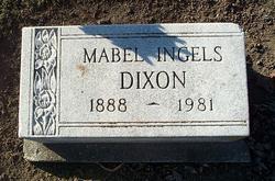 Mabel <I>Ingels</I> Dixon