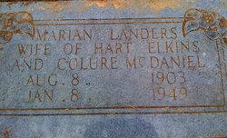 Marian Lee <I>Landers</I> Elkins McDaniel