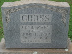 Genie Mary <I>Carrick</I> Cross