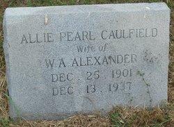 Allie Pearl Caulfield <I>Crawford</I> Alexander