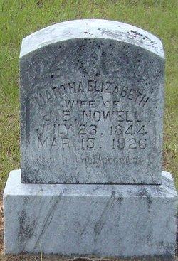 Martha Elizabeth <I>Dennis</I> Nowell