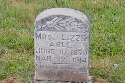 Mrs Lizzie <I>Able</I> Abel