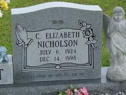 """C Elizabeth """"mimi"""" <I>Nicholson</I> Abbott"""