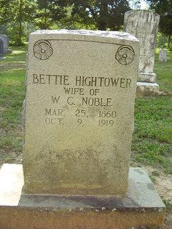 Bettie <I>Hightower</I> Noble