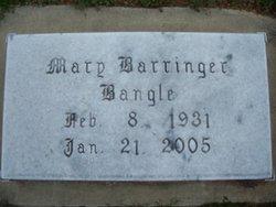 Mary <I>Barringer</I> Bangle