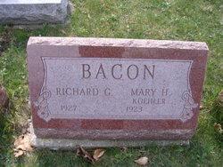 Mary H <I>Koehler</I> Bacon