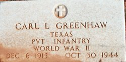 Pvt Carl Lenard Greenhaw