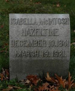 Isabella <I>McIntosh</I> Hazeltine